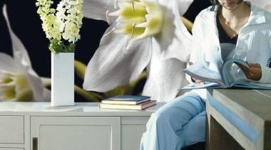 Madonna Interieur - Italian Color Range - flower flower, furniture, white, gray, black