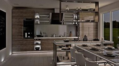 Cooking with light - Magic Lighting - countertop countertop, cuisine classique, interior design, kitchen, gray, black
