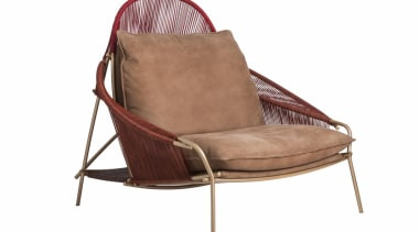 Stephen Burks and Roche Bobois collaborated on creating chair, furniture, product, white