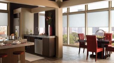luxaflex qmotion roller blinds - luxaflex qmotion roller floor, flooring, furniture, interior design, kitchen, white, brown