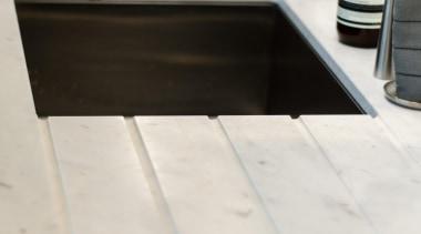 Pepper Design - Team 7 Kitchen - floor floor, flooring, furniture, product design, sink, table, tap, tile, wood, white