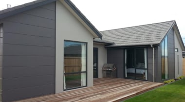 Stria Cladding - Stria Cladding - cottage | cottage, facade, home, house, property, real estate, shed, siding, window, gray