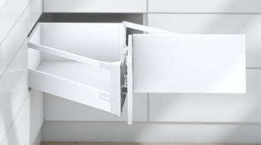 The SPACE CORNER gives you full extension drawers angle, bathroom accessory, bathroom cabinet, bathroom sink, chest of drawers, drawer, furniture, product, sink, tap, white