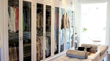 WALK IN CLOSET - Closet - walk in ceiling, floor, flooring, furniture, interior design, living room, room, wall, window, gray