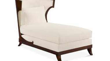"""My natural inclination for grandeur prompts me to bed, bed frame, chair, chaise longue, club chair, couch, furniture, mattress, outdoor furniture, product, product design, studio couch, white"