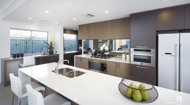 Kitchen design. - The Lexington Two Storey Display countertop, interior design, kitchen, real estate, gray, white