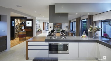 Kitchen design. - The Macquarie Display Home - countertop, interior design, kitchen, real estate, gray