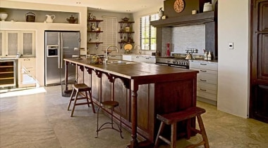 Personal Expression - cabinetry   countertop   cuisine cabinetry, countertop, cuisine classique, dining room, floor, flooring, furniture, hardwood, interior design, kitchen, room, table, brown