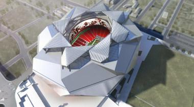 Mercedes-Benz Stadium 05 - Mercedes-Benz Stadium 05 - architecture, product design, sport venue, structure, gray