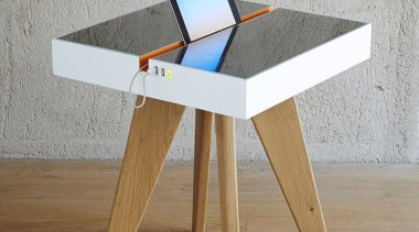 Now here's a smart idea – a table that chair, desk, furniture, table, wood, gray, brown