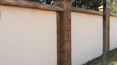 DecocreteFor more information visit the Permacolour website facade, fence, home fencing, outdoor structure, property, real estate, wall, gray