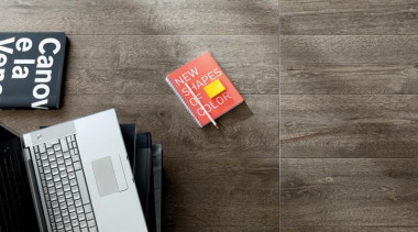 Bioplank fume interior wood look floor tiles. - floor, flooring, font, product design, gray