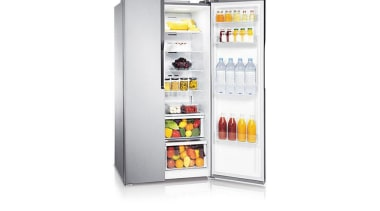 Refrigerator – Side By Side – SRS583NLSThe new home appliance, kitchen appliance, major appliance, product, product design, refrigerator, white