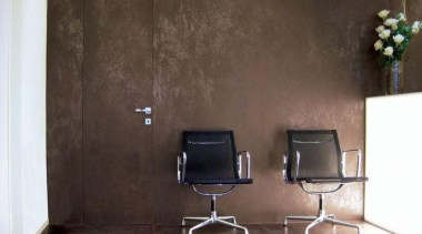 Laminam Oxide Moro - Laminam Oxide Moro - chair, floor, furniture, interior design, product design, table, wall, black, brown