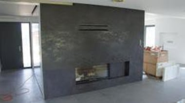Laminam 300 x 100 - Laminam 300 x fireplace, floor, hearth, interior design, property, black, gray