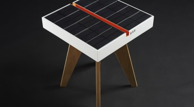 Now here's a smart idea – a table that furniture, product, table, black