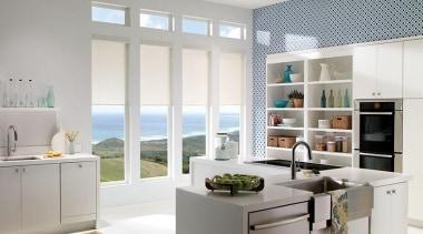 luxaflex qmotion roller blinds - luxaflex qmotion roller countertop, home appliance, interior design, kitchen, window, white, gray
