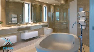 An elegant bathroom design with a majestic freestanding bathroom, interior design, property, real estate, room, gray, brown