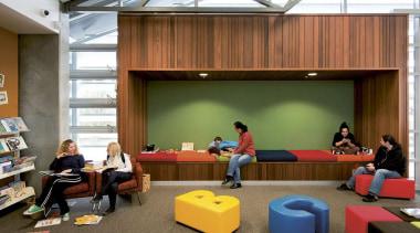 MERIT WINNERWellsford War Memorial Library (4 of 4) classroom, furniture, institution, interior design, brown