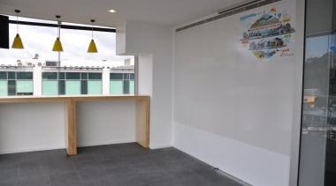 Potter Interior Systems creates customised whiteboard solutions for floor, real estate, gray