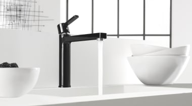 Kludi 02 - angle | bathroom | bathroom angle, bathroom, bathroom sink, black and white, ceramic, plumbing fixture, product, product design, sink, tap, white