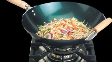 distributes heat perfectly for stir frying - wok-ring cookware and bakeware, wok, black