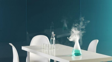 Walls featuring Seratone Amys Amnesia - Walls featuring blue, chair, furniture, interior design, product design, table, teal