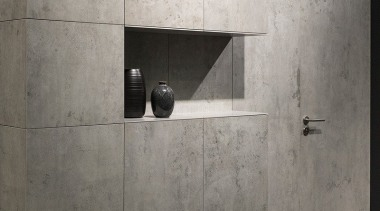 Beton - internal wall installation architecture, concrete, floor, plumbing fixture, product design, tap, tile, wall, gray