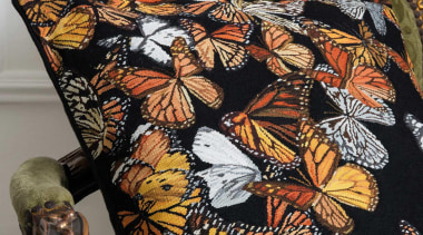 Inspired by an exquisite hand crafted feather butterfly brown