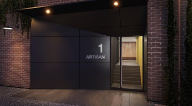 The first stage of Wynyard Central is an architecture, door, facade, real estate, black