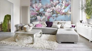 Magnolia Interieur - Italian Color Range - furniture furniture, home, interior design, living room, room, table, wall, window, gray, white