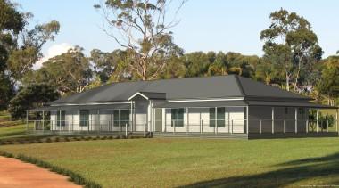 25.8 m x 9.0 mBedrooms: 4 + studyBathrooms: cottage, elevation, estate, facade, farmhouse, home, house, land lot, landscape, plantation, property, real estate, brown