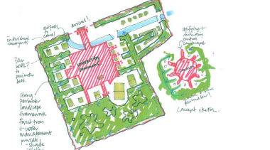British landscape architecture firm Grant Associates working with area, diagram, font, green, product, text, white