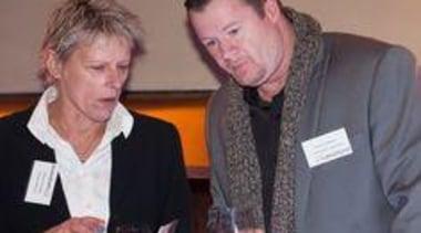 De Moss Mason (Millhouse Mews) and Shane Hoffman communication, socialite, gray