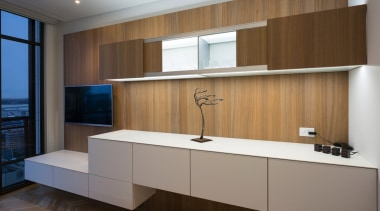 Highly Commended in the Category Imported Kitchen cabinetry, countertop, furniture, interior design, kitchen, product design, brown, gray