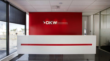 custom reception desk at dkw personnel by interiors interior design, gray