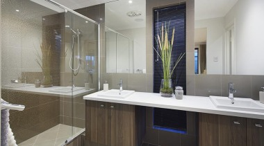 Ensuite design. - The Macquarie Display Home - bathroom, interior design, room, sink, gray