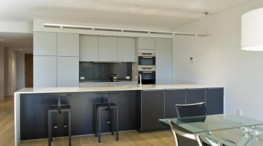 New Zealand Apartment Kitchen Designer of the Year countertop, interior design, kitchen, office, real estate, gray