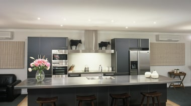 Woburn Kitchen - Woburn Kitchen - ceiling   ceiling, countertop, interior design, kitchen, table, gray, black