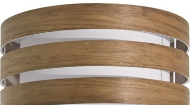 FeaturesA bold, contemporary design styled to create contemporary lighting, product, wood, brown, white
