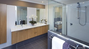 Ensuite design. - The Meridian Two Storey Display bathroom, countertop, interior design, kitchen, real estate, room, gray