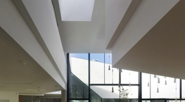 Library in Galicia, Spain - Library in Galicia, architecture, ceiling, daylighting, house, interior design, gray
