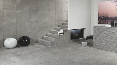 Wire grey lounge floor and wall tiles - floor, flooring, hearth, interior design, product design, tile, wall, gray