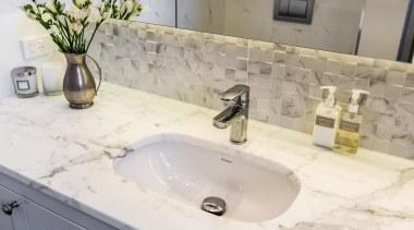 Classic Villa - Classic Villa - bathroom | bathroom, bathroom sink, bathtub, countertop, floor, plumbing fixture, sink, tap, tile, wall, white, gray
