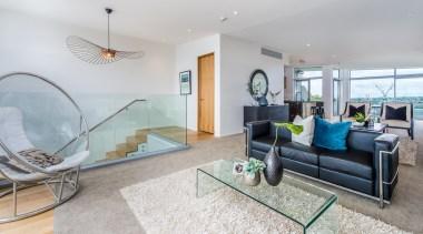 Living room with seaview apartment, architecture, condominium, estate, home, house, interior design, living room, penthouse apartment, property, real estate, room, gray