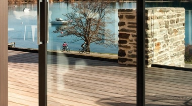 We know there's nothing quite like the feeling door, outdoor structure, window, wood, orange