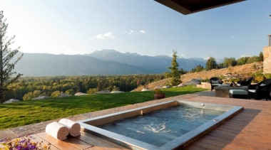 In Ground Stainless Steel Hot Tub - Luxury estate, home, house, leisure, property, real estate, swimming pool, villa, white