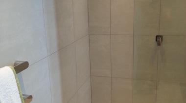 Earthstone talc ivory wall and floor tiles - bathroom, floor, flooring, plumbing fixture, property, room, shower, tile, wall, wood, gray, brown