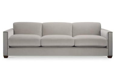 """Upholstery helps set the foundation for how a angle, couch, furniture, loveseat, product, product design, sofa bed, white, gray"