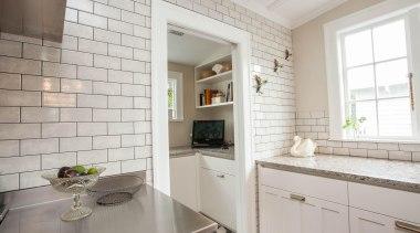 scp-26.jpg - countertop | cuisine classique | floor countertop, cuisine classique, floor, flooring, home, interior design, kitchen, property, real estate, room, tile, window, gray